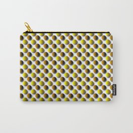 Polka Dot Orange and Brown Circles Carry-All Pouch