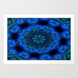 Battling At The Chasm Mandala 6 Art Print