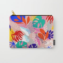 Keep Growing - Tropical plant on peach Carry-All Pouch