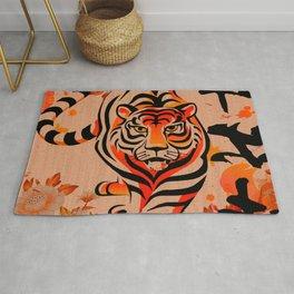 japanese tiger art Rug