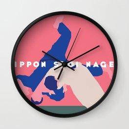 Ippon Seoi Nage Wall Clock