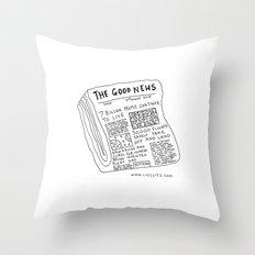Good News! Throw Pillow