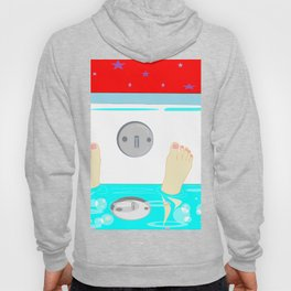 Soaking in the Tub with Red Wallpaper Hoody