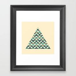 Trichevron Framed Art Print