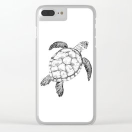 Sea Turtle - Pen and Ink Illustration Clear iPhone Case