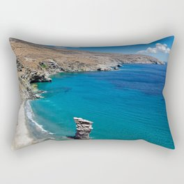 The old woman's jump beach in Andros island, Greece Rectangular Pillow