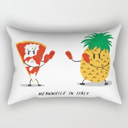 NO pineapple on pizza pls Rectangular Pillow