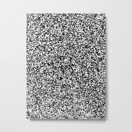 Tiny Spots - White and Black Metal Print