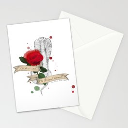 Shakespeare Quote (Flower and Serpent) Stationery Cards