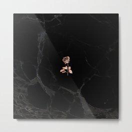Forever Petal (Black Rose) Metal Print