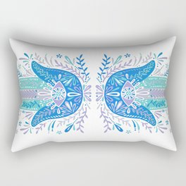 Hamsa Hand – Blue & Turquoise Palette Rectangular Pillow
