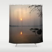 calm Shower Curtains featuring calm by  Agostino Lo Coco