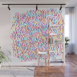 frames in 10 colors Wall Mural