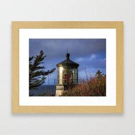 Cape Meares Lighthouse Framed Art Print