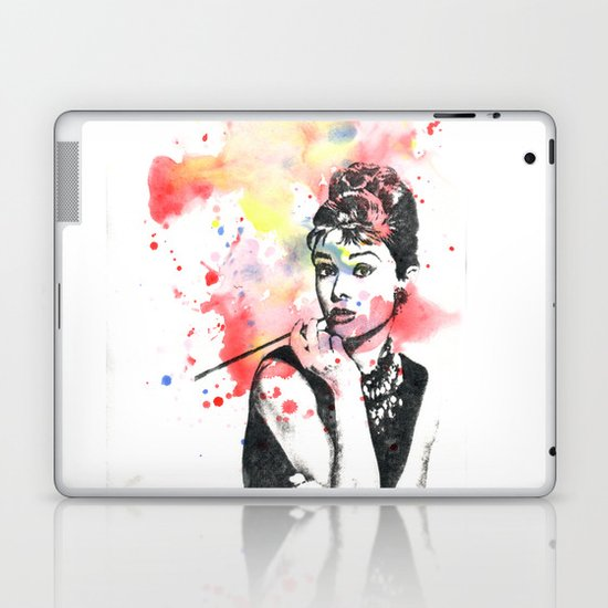 Audrey Hepburn Painting Laptop & iPad Skin