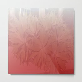 Foliage in Red & White DP170624a Metal Print