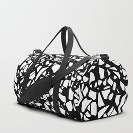 Terrazzo White on Black Duffle Bag