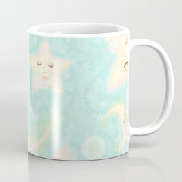Lady Moons and Stars Pattern Coffee Mug