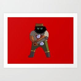 Chainsaw guy Art Print