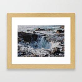Thor's Well Framed Art Print