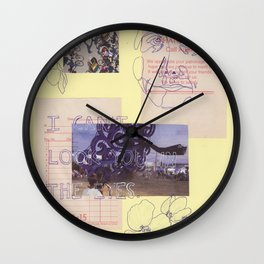in the eyes Wall Clock