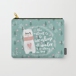 Lazy Quote Carry-All Pouch