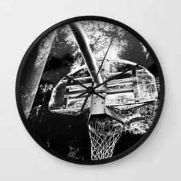 Black And White Basketball Art Wall Clock