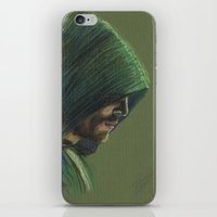 green arrow iPhone & iPod Skins featuring Green Arrow by xDontStopMeNow
