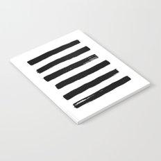 black paint stripes Notebook
