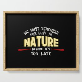 Climate Change Planet Earth CO2 Future Gift Idea Serving Tray