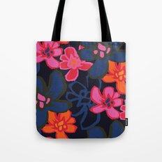 Camelia Woodcut - Winter Tote Bag
