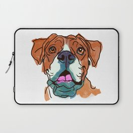 The Boxer cutie keeps you happy! Laptop Sleeve