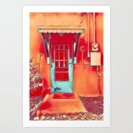 Bunk House Door Art Print