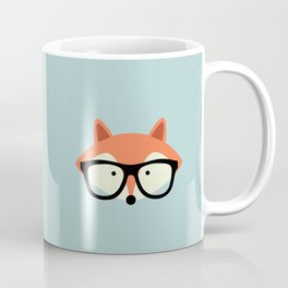 Hipster Red Fox Coffee Mug