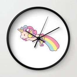 Fun Roller Skating Unicorn Gift Design Roller Skate Print Wall Clock