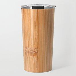 Cool elegant light brown bamboo wood print Travel Mug