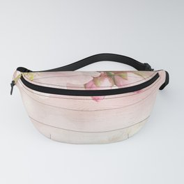 Romantic Vintage Shabby Chic Floral Wood Pink Fanny Pack