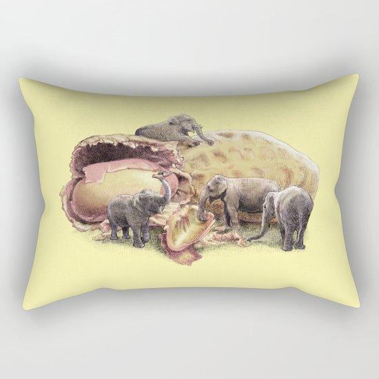 Elephant's Paradise (colour option) Rectangular Pillow