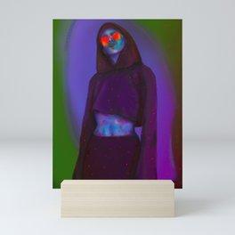 Cosmic Eyes | Cyber punk digital illustration cool hoodie woman Mini Art Print