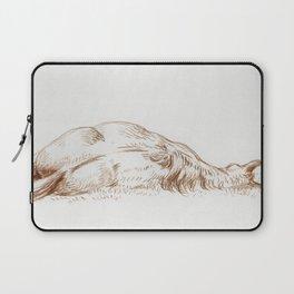 Lying horse by Jean Bernard Laptop Sleeve