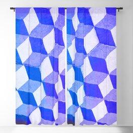 Blue Antic Tile Pattern Blackout Curtain