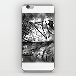 Swan Reflection  iPhone Skin
