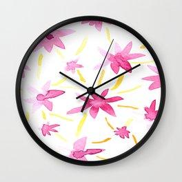 Magenta Love Wall Clock