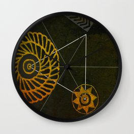 Looking for Ancestral Treasures Wall Clock