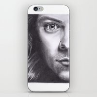 harry styles iPhone & iPod Skins featuring Harry Styles by Jen Eva