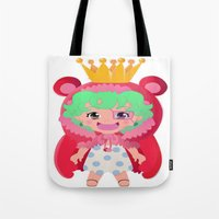 one piece Tote Bags featuring Sugar from one piece by Dama Chan