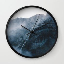 Milford Sound Waterfalls Wall Clock