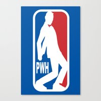 pee wee Canvas Prints featuring Pee Wee League by sinistergrynn