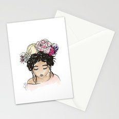 Flower Crown Clara Stationery Cards