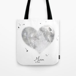 Moon in love Tote Bag
